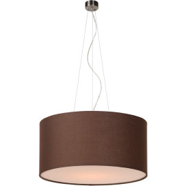 Suspension contemporain coton marron Ø 60 cm Carolane