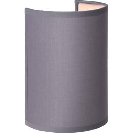 Applique contemporaine ronde coton gris Carolane