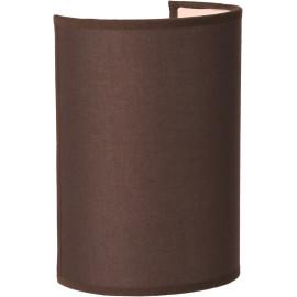 Applique contemporaine ronde coton marron Carolane