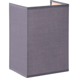 Applique contemporaine carrée coton gris Carolane
