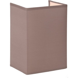 Applique contemporaine carrée coton taupe Carolane