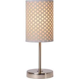 Lampe à poser contemporaine métal et PVC blanc Rosace