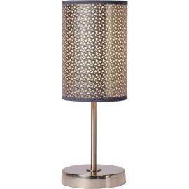 Lampe à poser contemporaine métal et PVC gris Rosace