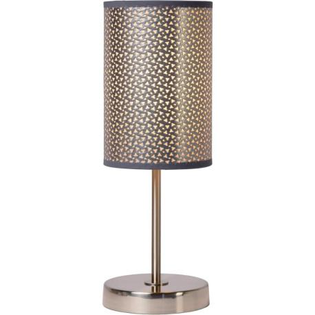 lampe poser contemporaine m tal et pvc gris rosace. Black Bedroom Furniture Sets. Home Design Ideas