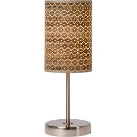 Lampe à poser contemporaine métal et PVC marron Rosace