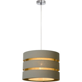 Suspension design ronde en lin taupe Soho