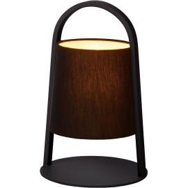Lampe à poser moderne en métal noir Omalay