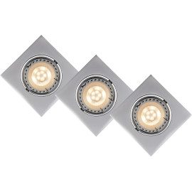 Lot de 3 spots design encastrable carré gris Liana
