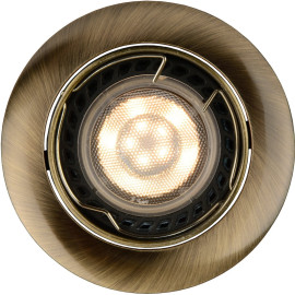 Spot design encastrable rond bronze Mondor