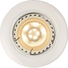 Spot design encastrable rond blanc Mondor