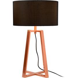 Lampe de table design en acier effet cuivre Aubade