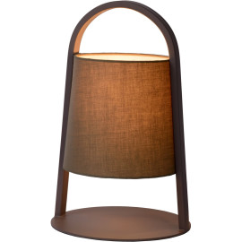 Lampe à poser moderne en métal gris foncé Omalay