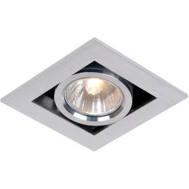 Spot carré design aluminium mat Olli