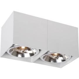 Spot design double cube blanc Paoline
