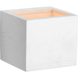 Applique led design cube blanc Kubi