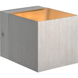 Applique design cube en aluminium gris Riri
