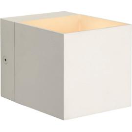 Applique design cube en aluminium blanc Riri