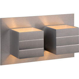Applique contemporaine double en aluminium chrome Lea