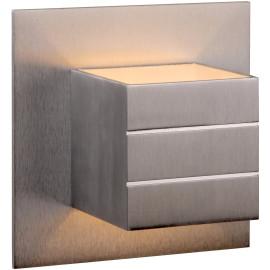 Applique contemporaine carrée en aluminium chrome Lea
