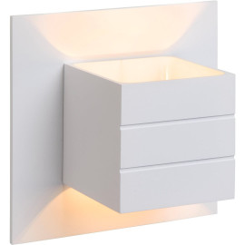 Applique contemporaine carrée en aluminium blanc Lea