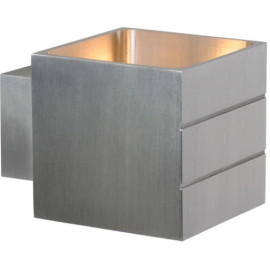 Applique contemporaine cube en aluminium chrome Lea