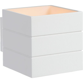 Applique contemporaine cube en aluminium blanc Lea