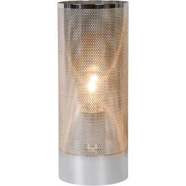 Lampe de table moderne en métal argenté Julietta