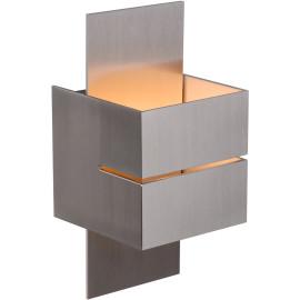 Applique design cube ouvert aluminium Arthur