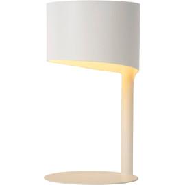 Lampe à poser vintage en métal blanc Estelle