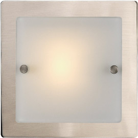 Applique carrée moderne plate en verre Linette
