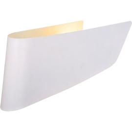 Applique design trapèze en acier blanc Inozy