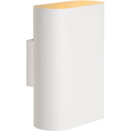 Applique design ovale en métal blanc Inozy
