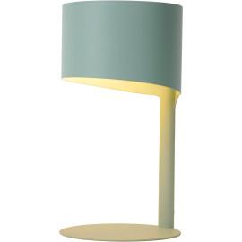Lampe à poser vintage en métal bleu pastel Estelle