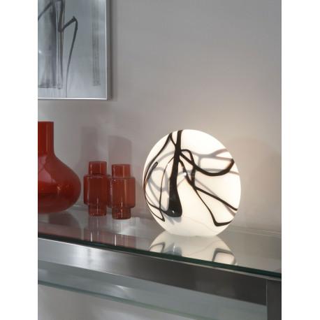 Lampe de table vintage en verre Sophia