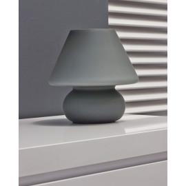 Lampe de table vintage en verre dépoli gris Lucette