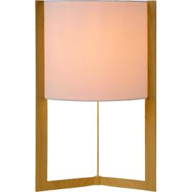 Lampe de table contemporaine métal et tissu blanc Melinora