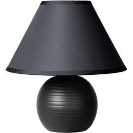Lampe à poser classique en céramique et tissu noir Penny
