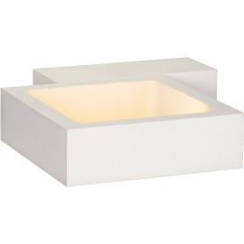 Applique led design carré blanche Mirra