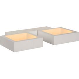 Applique led design double carré blanche Mirra