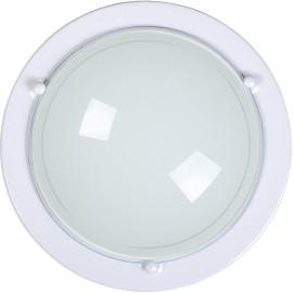 Plafonnier classique en verre blanc Ada