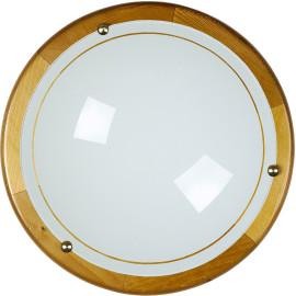 Plafonnier classique en verre marron Ada