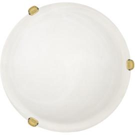 Plafonnier classique en verre opaque blanc Ø30 cm Adelie