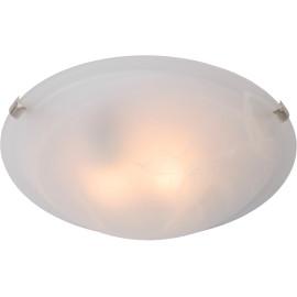 Plafonnier classique en verre opaque blanc Ø40 cm Adelia