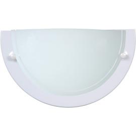 Applique classique demi-cercle verre blanc Adenora