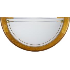 Applique classique demi-cercle verre marron Adenora