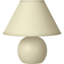 Lampe à poser classique en céramique et tissu crème Penny