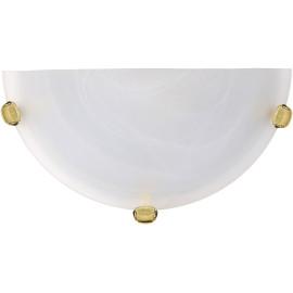 Applique classique en verre opaque blanc Adelia