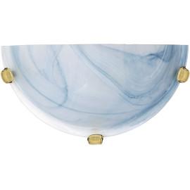 Applique classique en verre opaque bleu Adelia