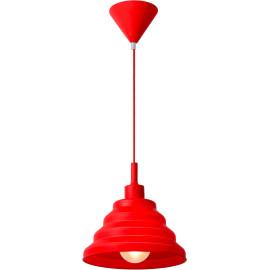 Suspension contemporaine en plastique et silicone rouge Callie