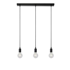 Suspension moderne en silicone noir 3 lampes Carmen